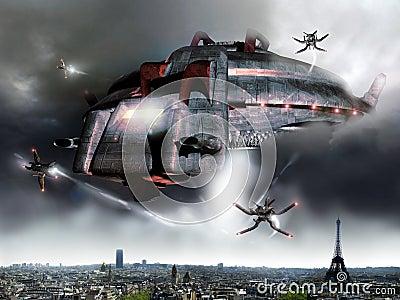 Paris alien invasion