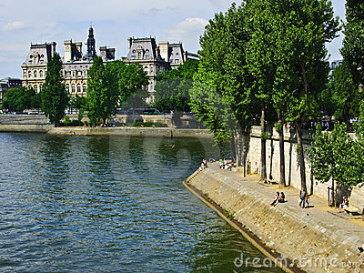 Paris, Along the River Seine Editorial Image