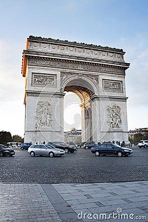Paris, Arc de Triomphe Editorial Image