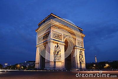 Paris - the Arc de Triomphe