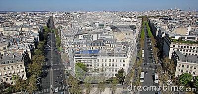 Paris from Arc de Triomphe, France