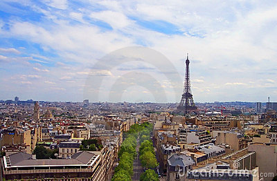 Paris France in August