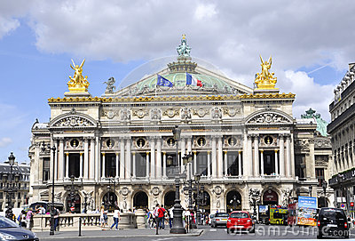 Paris,August 15,2013-Opera Garnier Building in Paris Editorial Stock Image