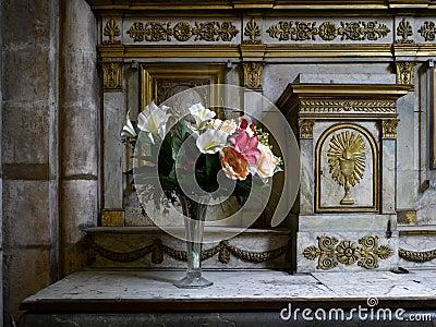 Paris: beautiful altar in Saint Germain church