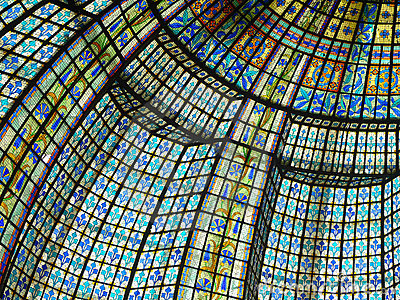 Paris beautiful color of stained glass windows