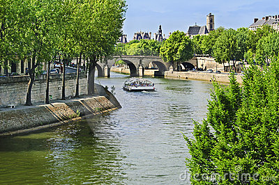 Paris, Boat on River Seine