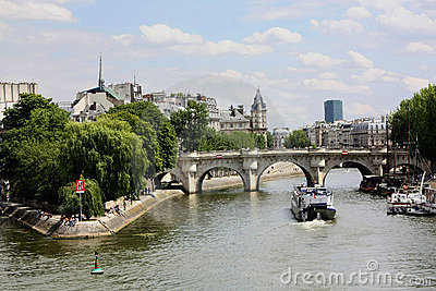 Paris Bridge over the Seine