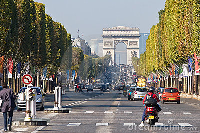 Paris. Champs Elysees Editorial Image