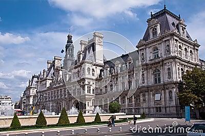 Paris City Hall Editorial Photography