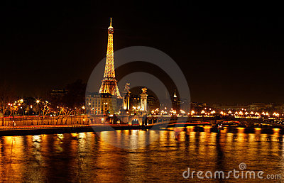 Paris - The City of Light Editorial Photo