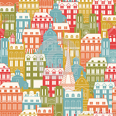 Paris Cityscape pattern