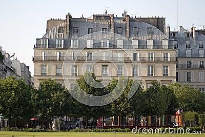 Paris classical apartment building