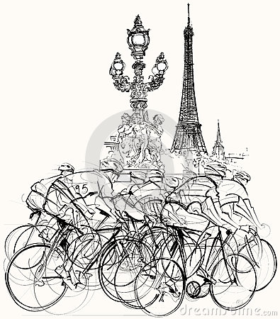 Paris - cyclists in competition