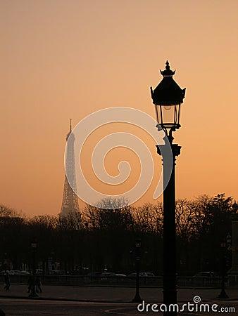 Paris in dawn