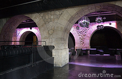 Paris Discotheque under the bridge
