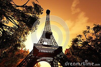 Paris Eiffel Tower 3D render