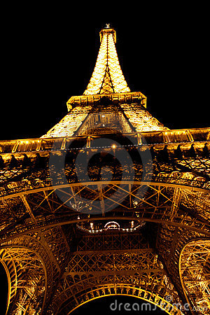 Paris. The Eiffel tower, France Editorial Photo