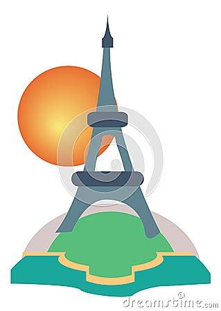 Paris Eiffel Tower tourism icon