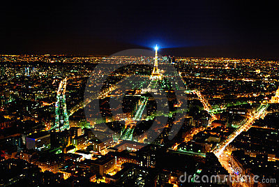 paris eiffel tower view from montparnasse Editorial Image