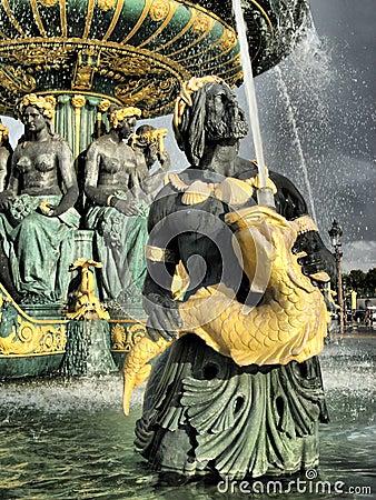 Paris - fountain of the seas