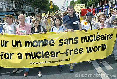 Paris, FRANCE - Anti-Nuclear Power Demonstration Editorial Stock Image