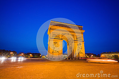 Paris, france. arc de triomphe.