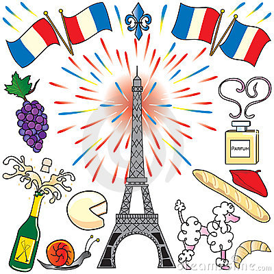 Free Paris, France Clip Art Party Royalty Free Stock Images - 9394799