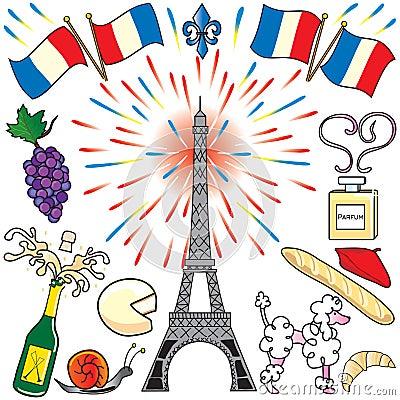 Paris, France clip art party
