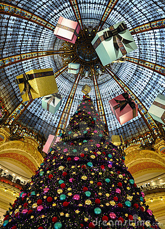 Paris - France Galeries Lafayette Editorial Stock Image