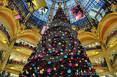 Paris - France Galeries Lafayette Editorial Photography