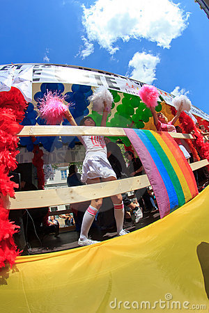 PARIS, FRANCE - June 25. 2011 Gay Pride Editorial Photo