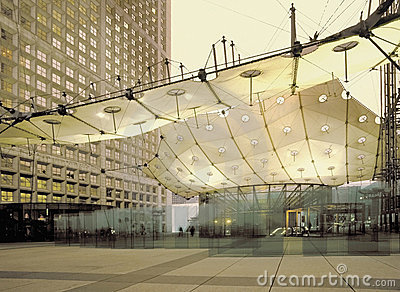 Paris france la defense business district Editorial Stock Photo