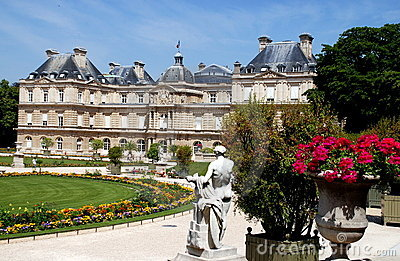 Paris, France: Luxembourg Palace & Gardens Editorial Photo