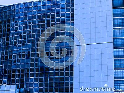 Paris France  Modern blue buildings