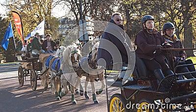 Paris horse parade Editorial Photo