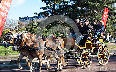Paris horse parade Editorial Stock Image