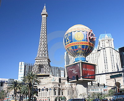 Paris Hotel  Las Vegas Editorial Stock Image