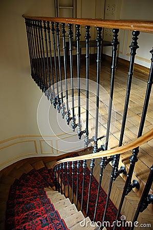 Paris house stairway