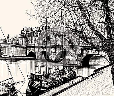 Paris - Ile de la cite - Pont neuf