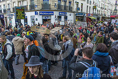 Paris, Indignants Protest Elections Stock Photos - Image: 24458513