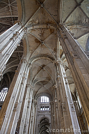 Paris - indoor of Saint Eustache church