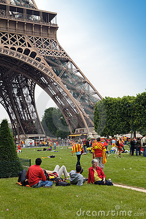 PARIS - JUNE 6 : The ending RUGBY Top of 14 France Editorial Stock Photo