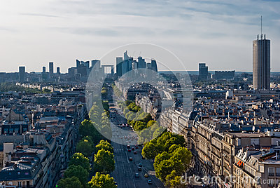Paris, La Defense, panoramic view