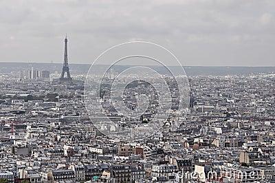 Paris landmark panorama