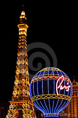 Free Paris Las Vegas Attractions Royalty Free Stock Photography - 24222097