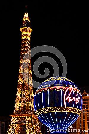 Paris Las Vegas Attractions Editorial Photography