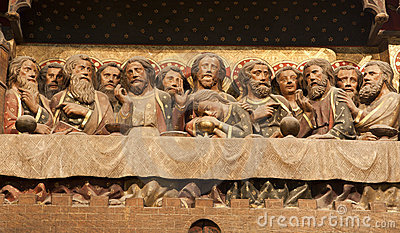 Paris - Last supper of Christ from Notre Dame