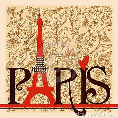 Free Paris Lettering Royalty Free Stock Photo - 23807605