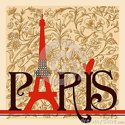 Paris lettering