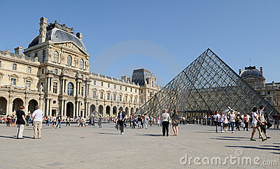 Paris Louvre Museum 2 Editorial Stock Photo